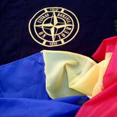 Tricou ULTRAS ROMANIA ON TOUR 1312 hooligans ACAB - Tricou barbati, Marime: L, Culoare: Negru