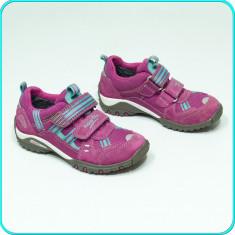 Pantofi sport / adidasi, PIELE, aerisiti, impermebili, SUPERFIT _ fetite | nr 28 - Pantofi copii, Culoare: Fuchsia, Fete, Piele intoarsa