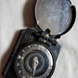 Lot 3 articole germane WW2: busola ofițer, căști radio, aparat ascuțit lamă ras