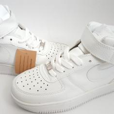 Ghete Nike Air Force alb Dama piele - Ghete dama Nike, Marime: 37, 38, 39, 40, 41, 42, 43, 44, Culoare: Din imagine, Piele naturala
