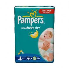 Scutece PAMPERS GIANT PACK 4 ACTIVE BABY Pentru Copii - Scutece unica folosinta copii