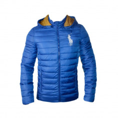 Geaca Ralph Lauren Model Slim Culoare Albastru Cod Produs D602 - Geaca barbati Ralph Lauren, Marime: L, XL, XXL, Microfibra