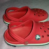 Papuci copii Crocs, Marime: 25.5, Culoare: Rosu