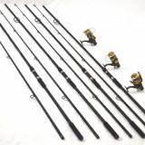 4 lansete FL POWER PLUS 3, 6m cu 4 mulinete KT5000A cu 9 rulmenti si baitrunner - Lanseta