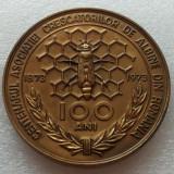 APICULTURA-ALBINE-MEDALIA CENTENARUL ASOCIATIEI CRESCATORILOR DE ALBINE-1973