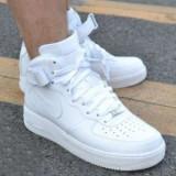 Ghete Nike Air Force One unisex - Adidasi barbati Nike, Marime: 37, 38, 39, 40, 41, 42, 43, 44, Culoare: Alb, Piele sintetica