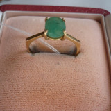 LICHIDEZ COLECTIE- INEL CU SMARALD NATURAL - Inel diamant, Carataj aur: 18k, Culoare: Galben