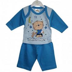 Pijamale Bedtime Bear bebelusi 0-3 | 3-6 | 6-9 luni / Pijamale subtiri 2 piese, Marime: Masura unica, Culoare: Din imagine, Baieti