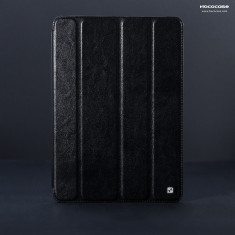 Husa/toc LUX piele fina HOCO Crystal, iPad 2 / 3 / 4, smart cover, NEGRU - Husa Tableta