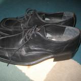 Pantofi piele - Pantofi barbati, Marime: 40, Culoare: Negru