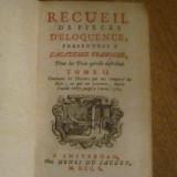 1750 - Recueil de Pieces D'Eloquence - Tome II - Carte veche